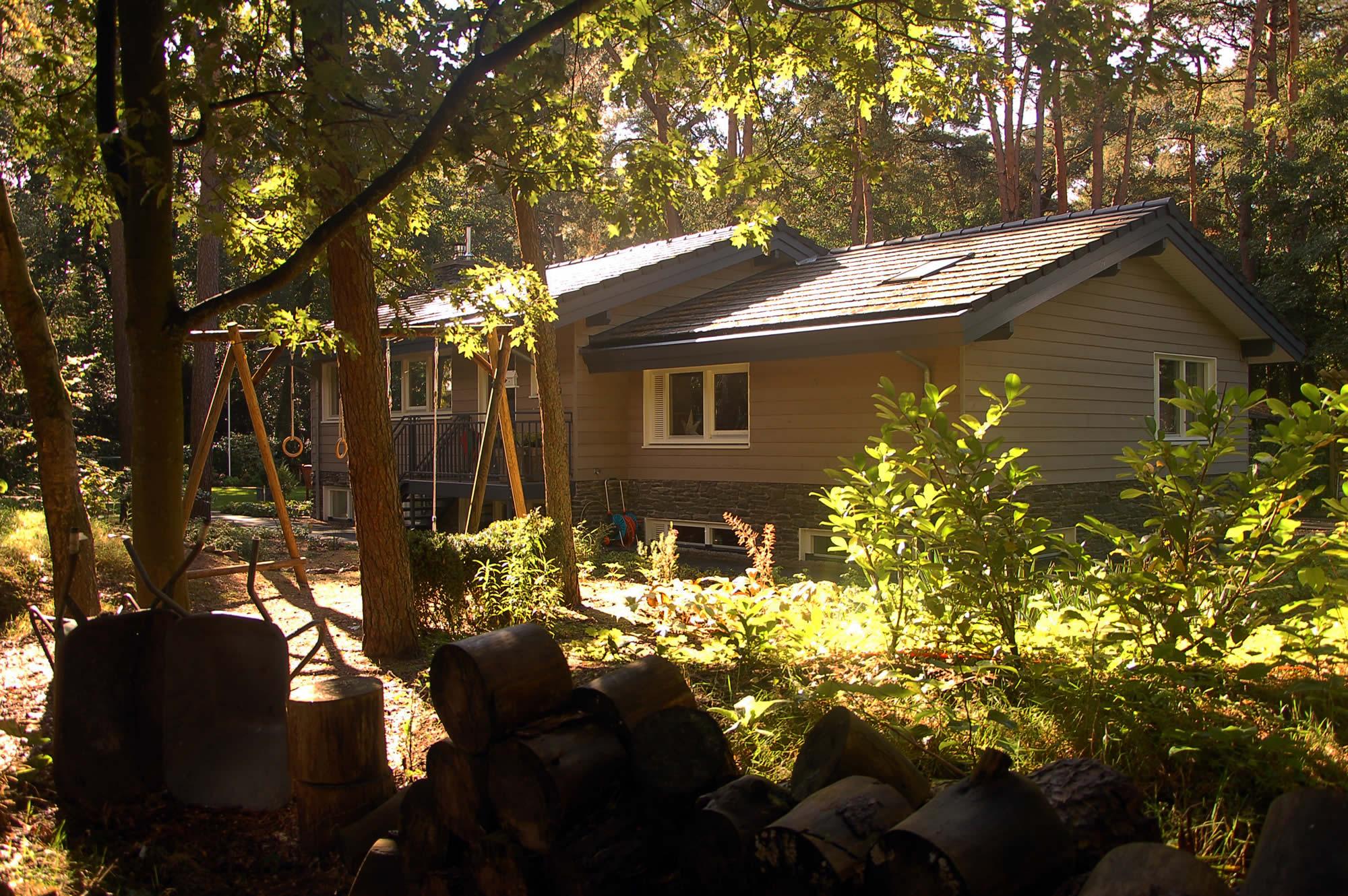 Aanzicht van het huis vanaf de achtertuin
