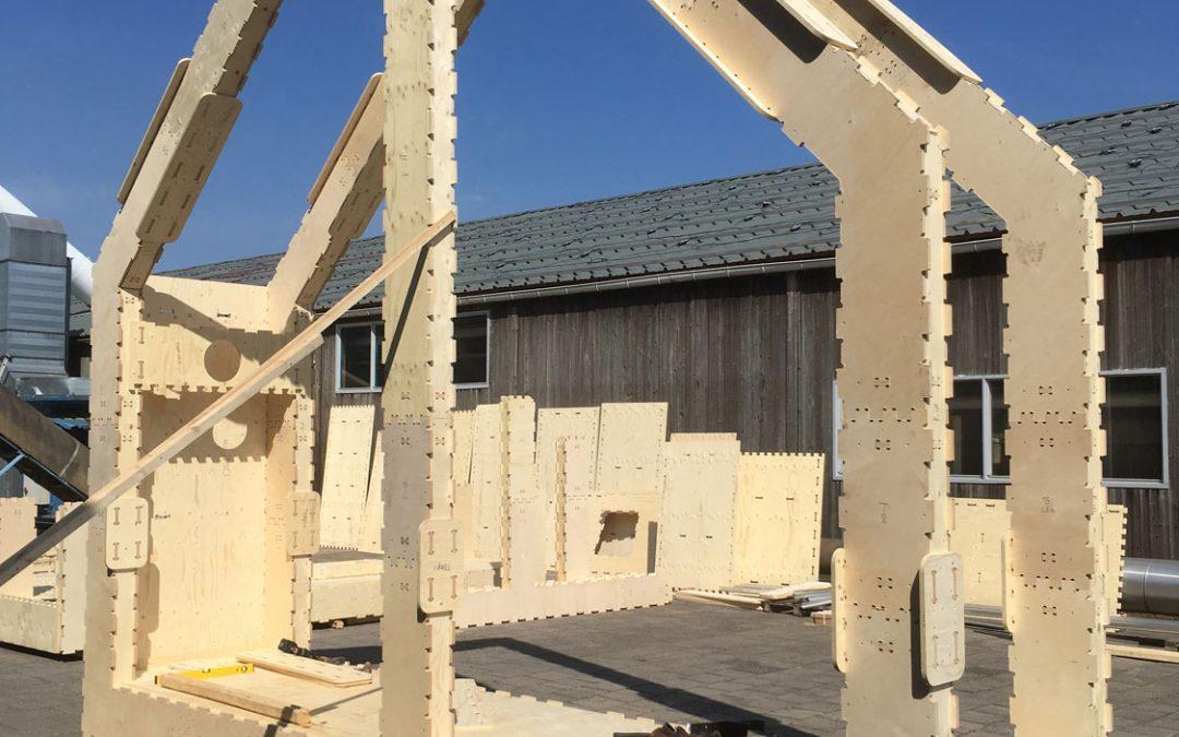 WikiHouse in Almere: Puzzelen met hout en energie