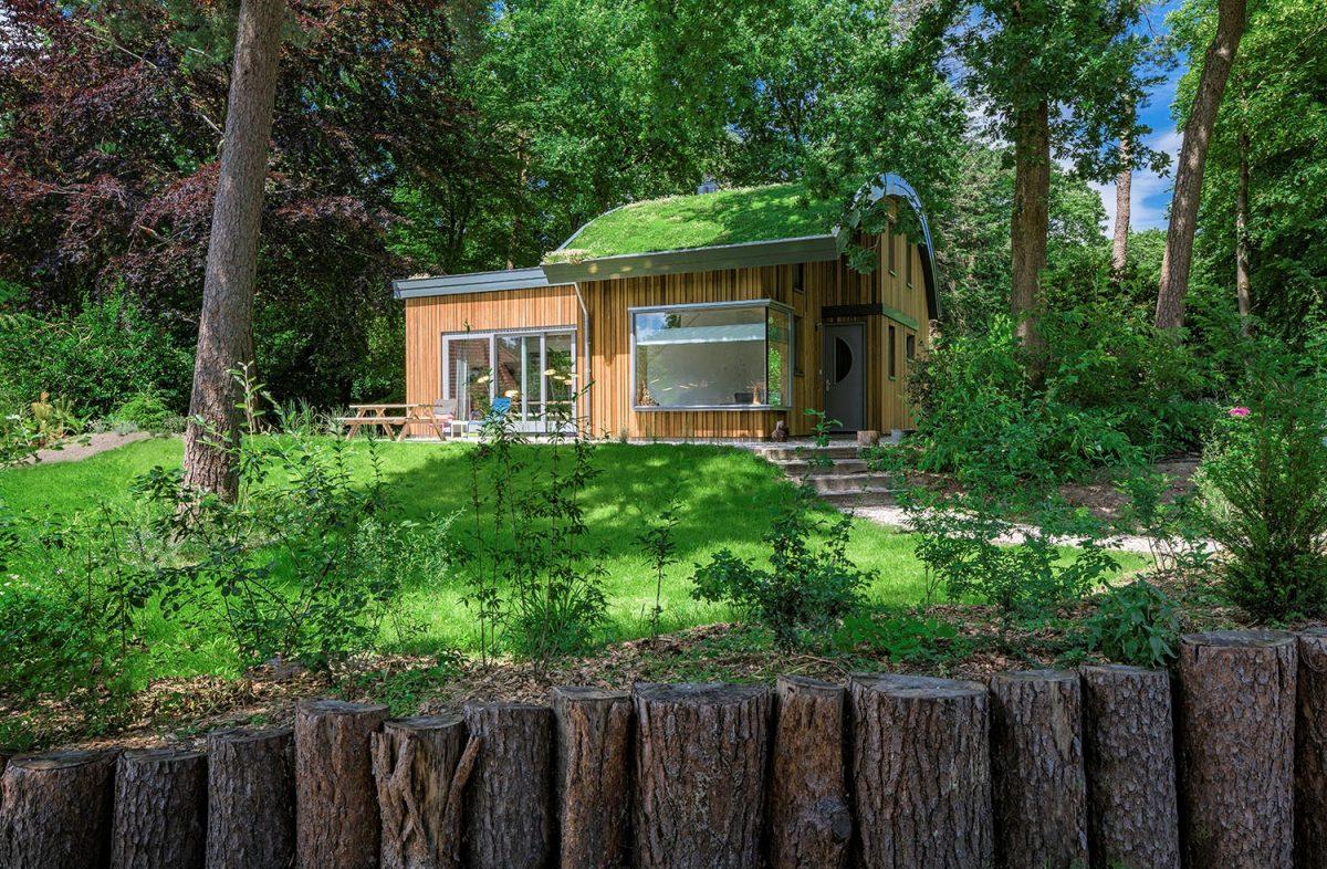 De vakantiewoning in Maarn staat op een heuvel
