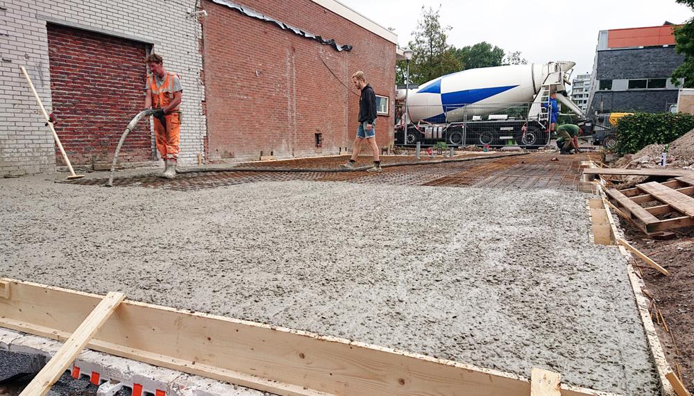 Gestorte betonvloer in Haarlem